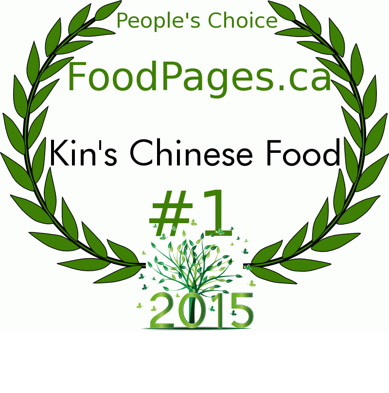 Kin's Chinese Food FoodPages.ca 2015 Award Winner
